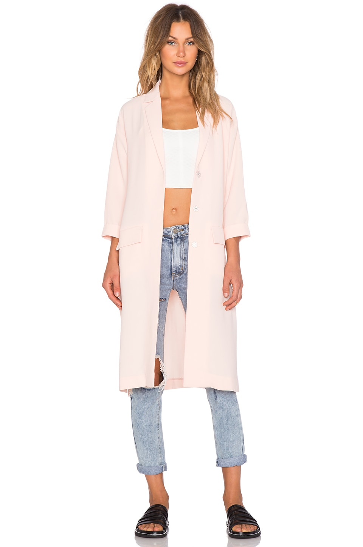 MINKPINK Politley Pink Duster Jacket in Pale Blush | REVOLVE