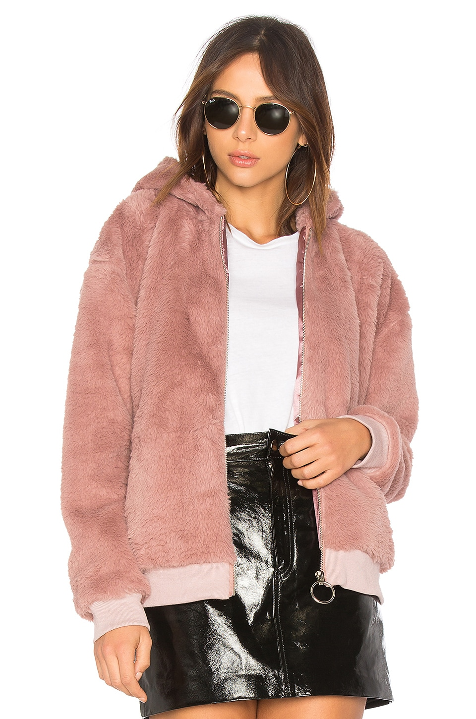 Fluffy Faux Fur Hooded Jacket by MINKPINK