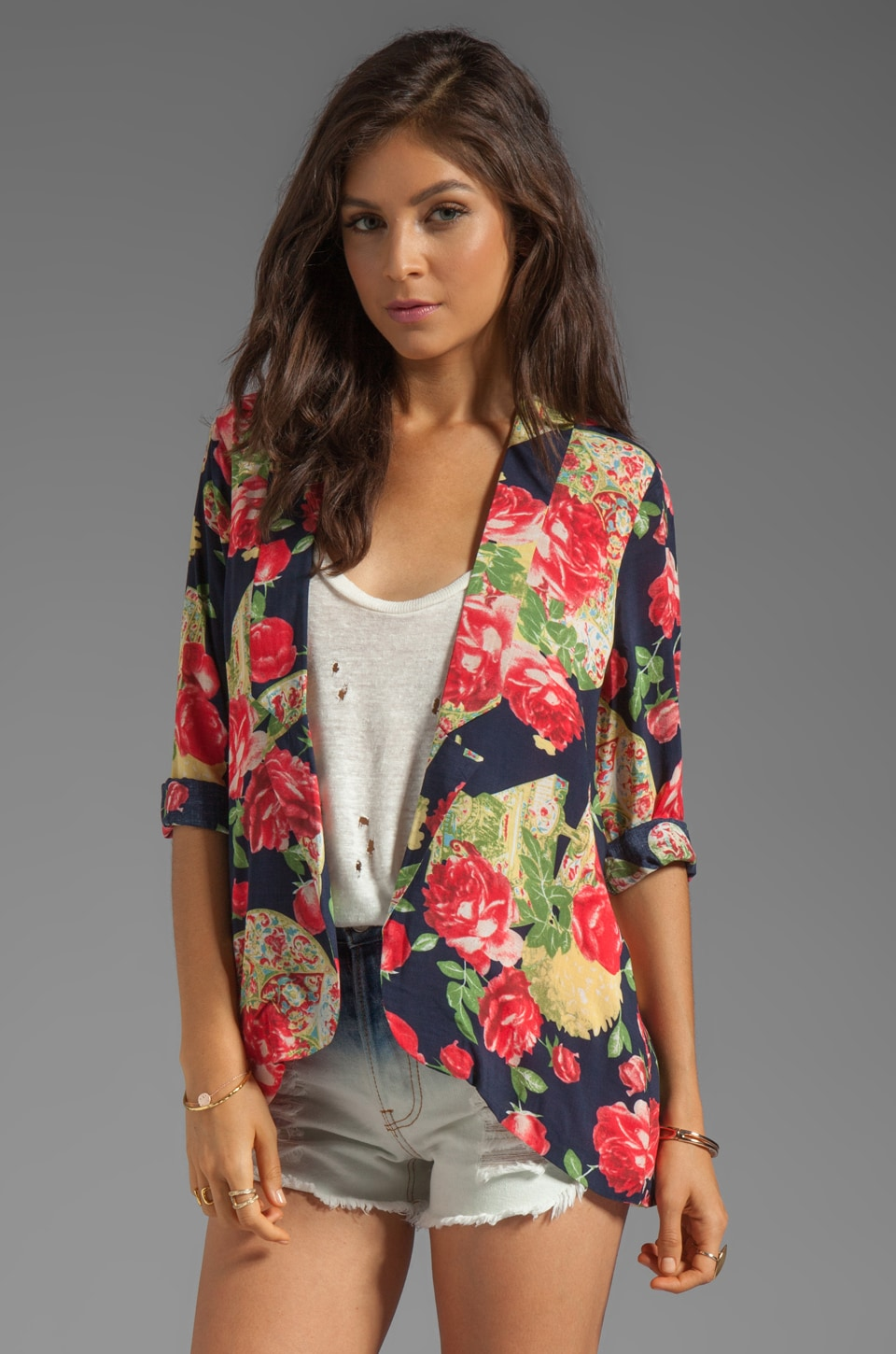 MINKPINK Love Letters Soft Blazer in Multi