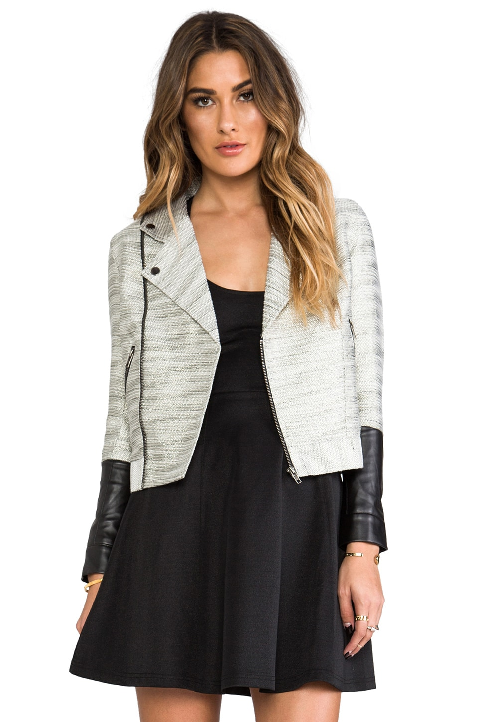 MINKPINK Silver Fox Jacket in Multi