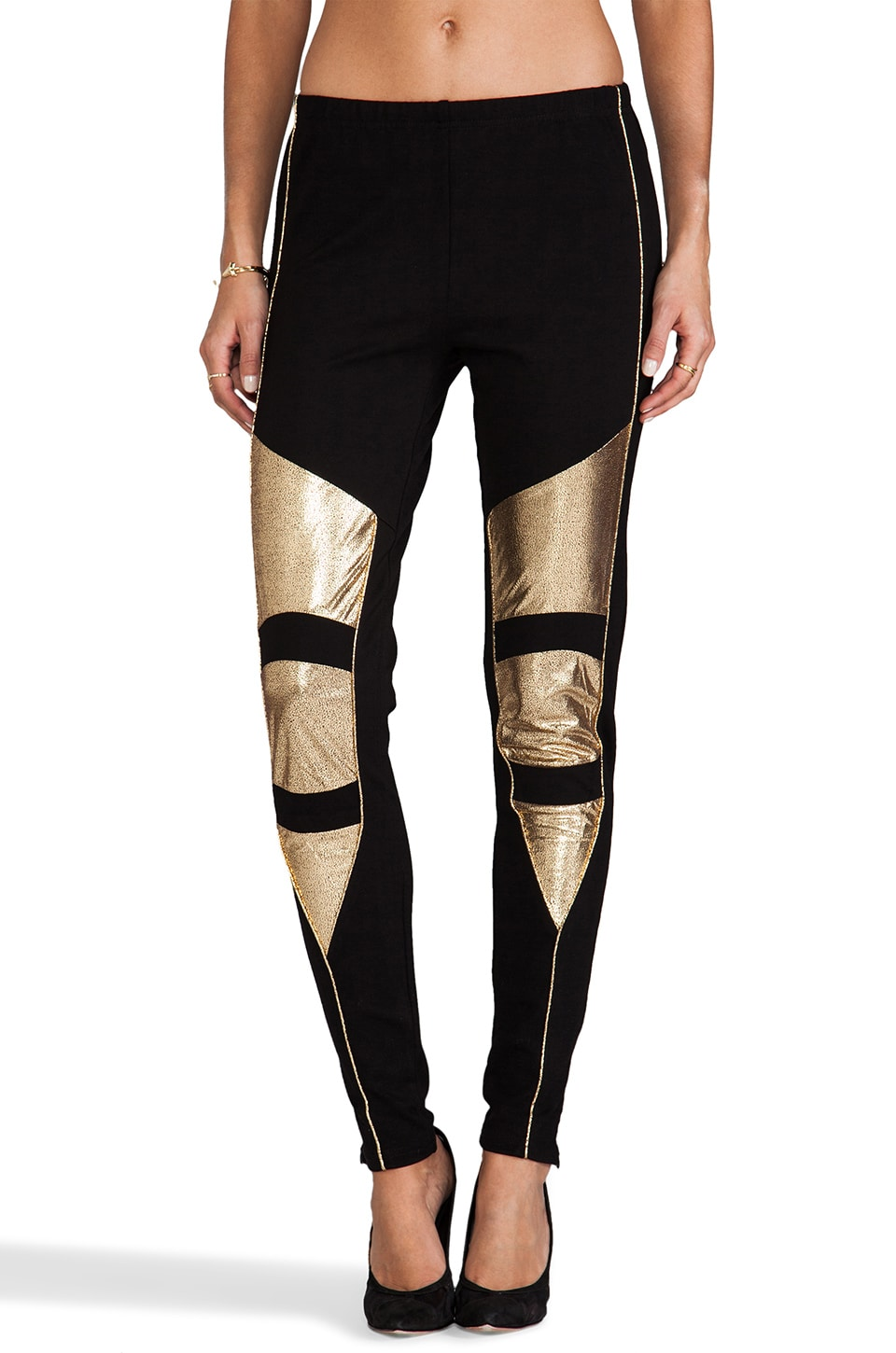 MINKPINK Struck Oil Legging in Black/Gold