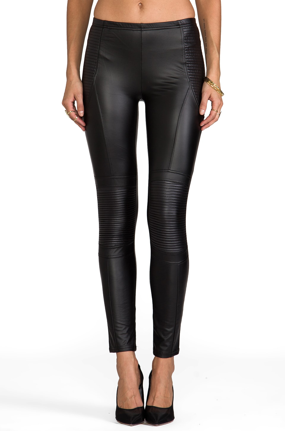 MINKPINK Vroom Vroom Leggings in Black