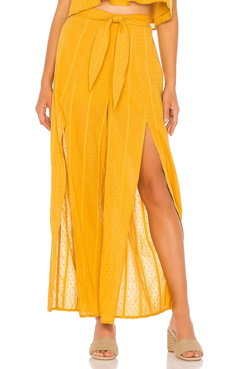 MINKPINK Shady Wrap Pant in Mustard