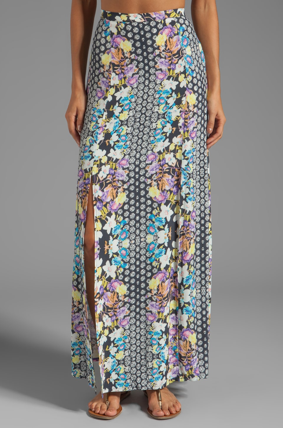 MINKPINK Wonderland Maxi Skirt in Multi