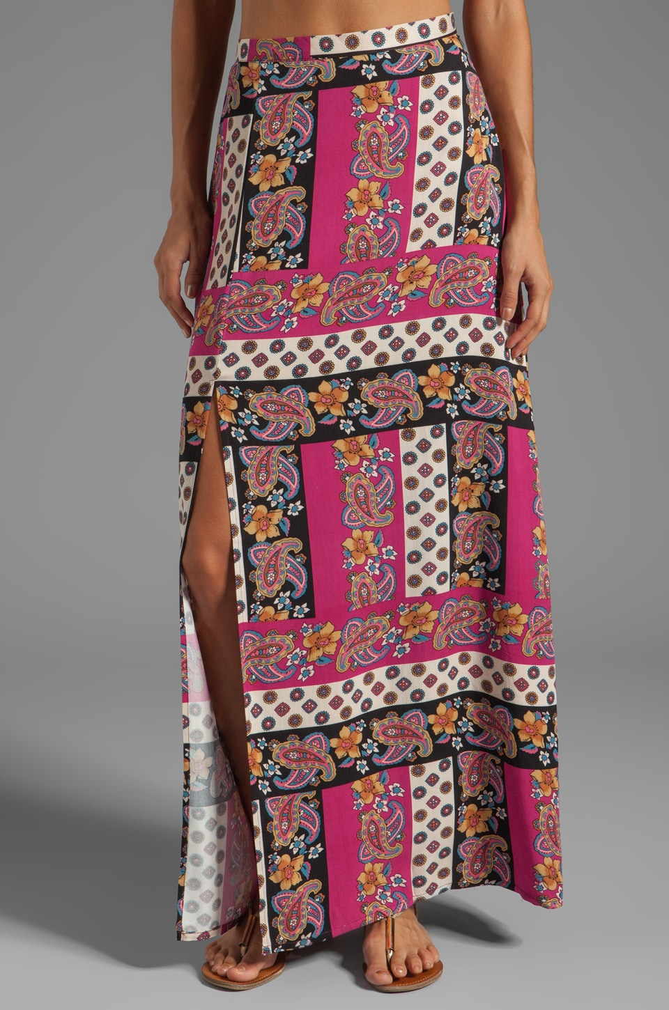 MINKPINK Princess of Persia Maxi Skirt with Slits in Multi
