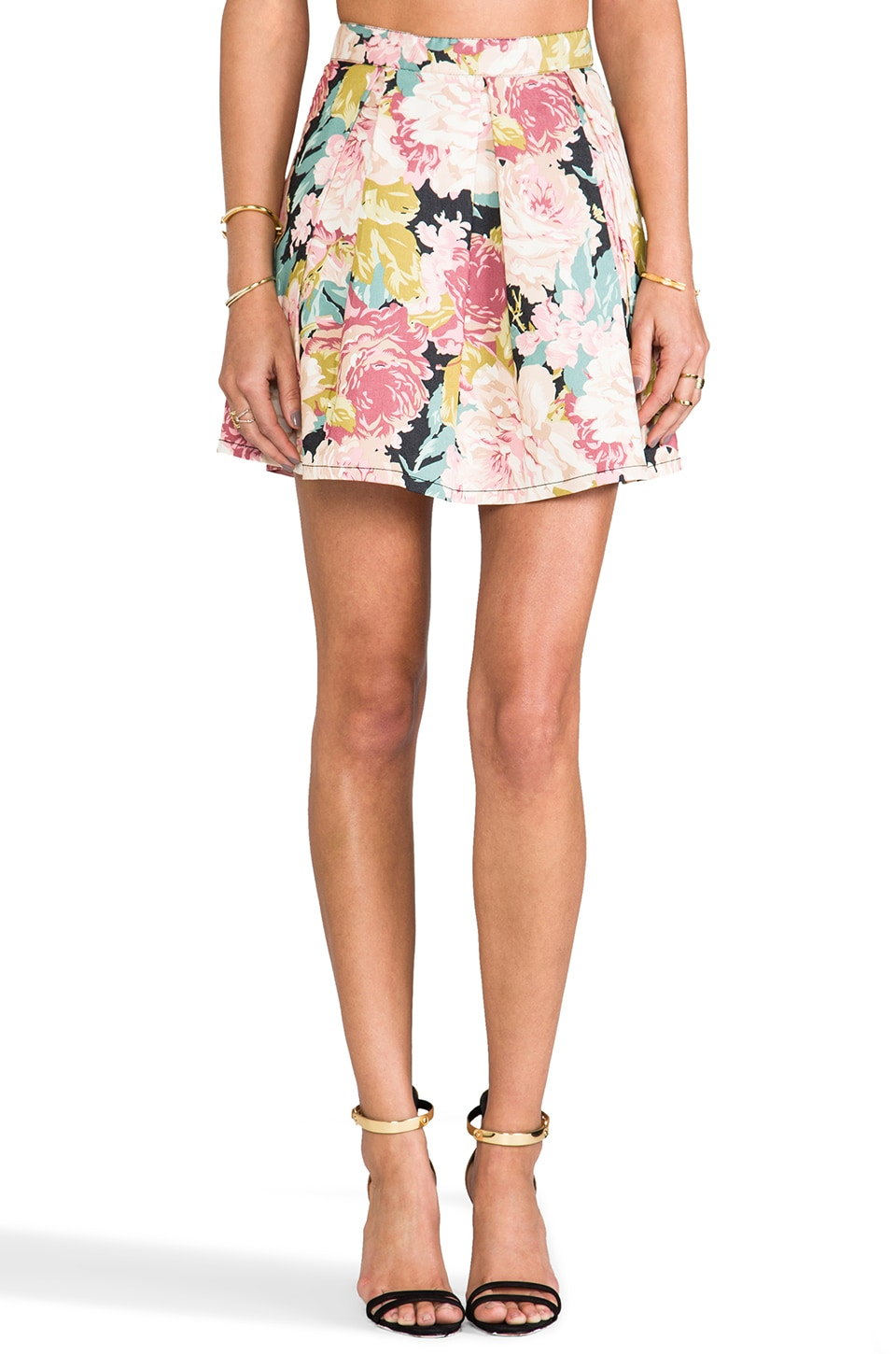 MINKPINK English Garden Mini Skirt in Multi