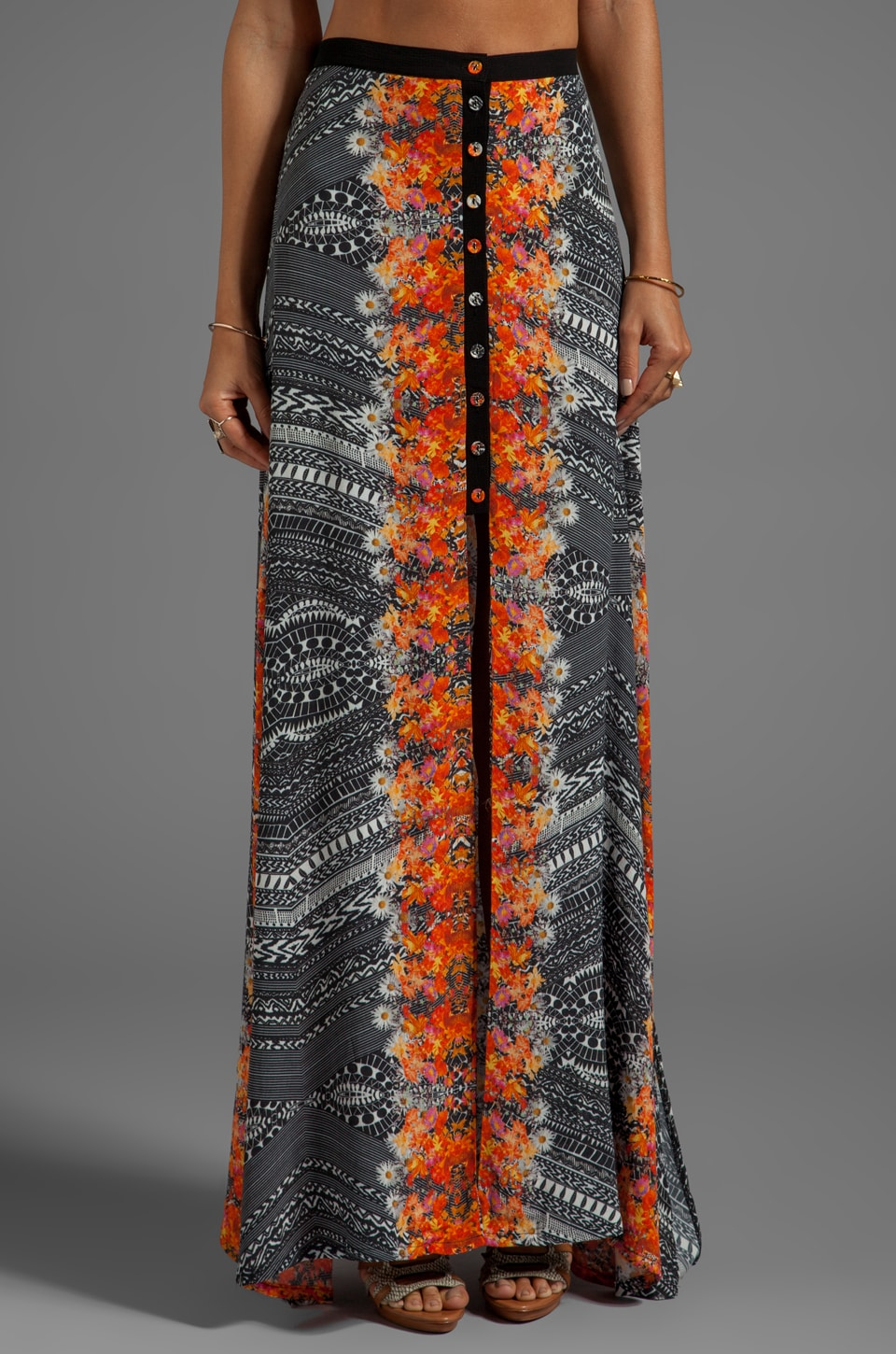 MINKPINK Reflections Maxi Skirt in Multi