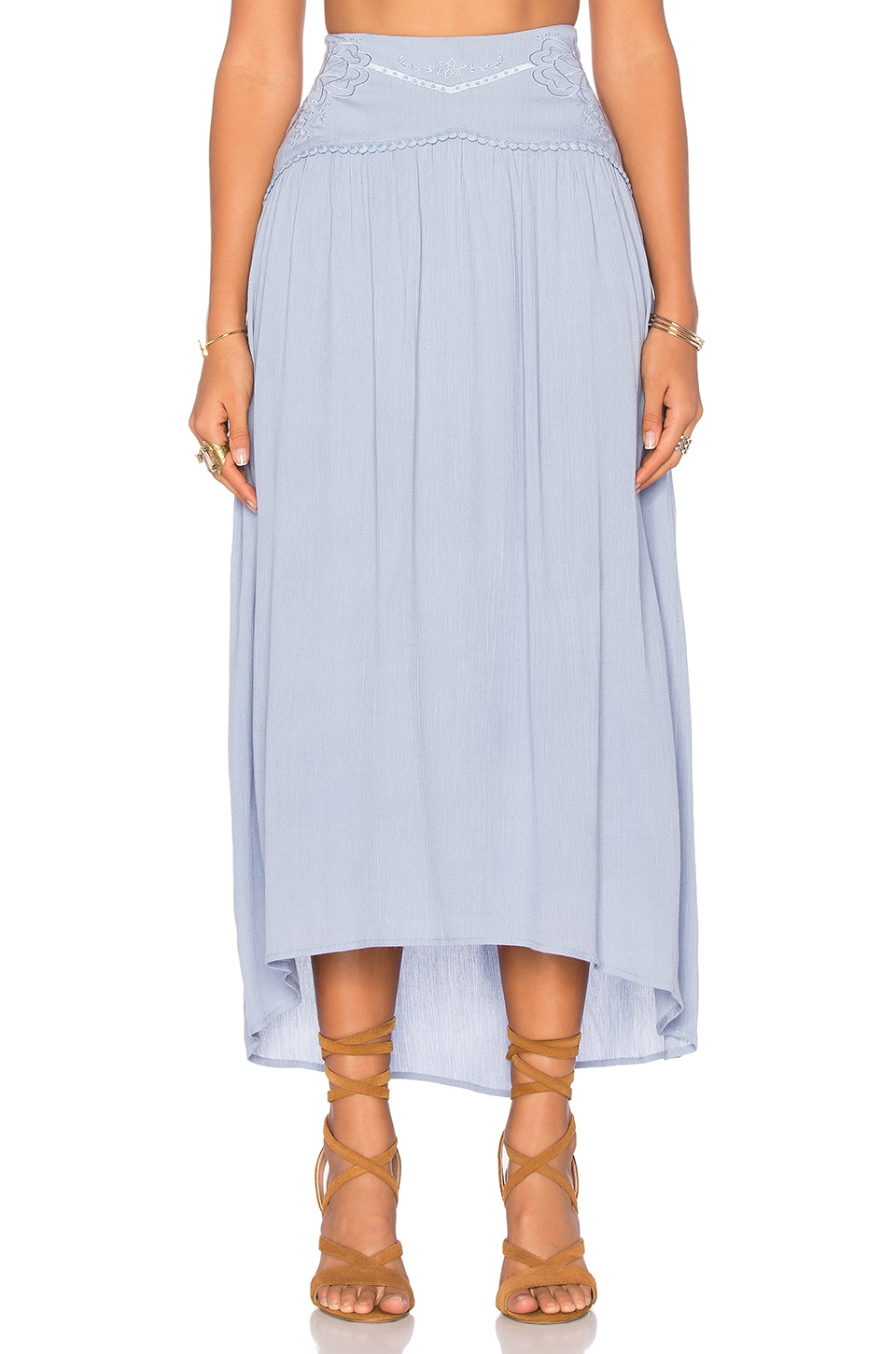 MINKPINK Spirited Away Skirt in Blue