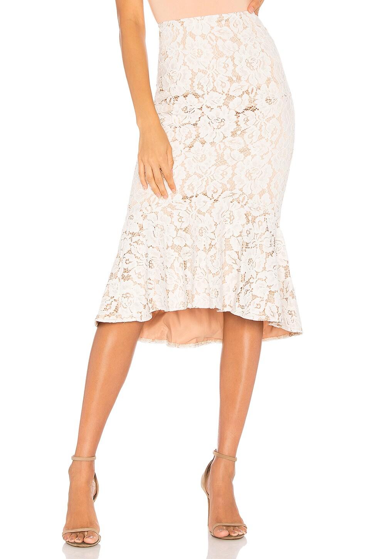 MINKPINK Marseille Lace Midi Skirt in Cream