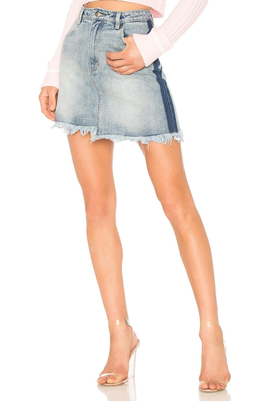 MINKPINK Highlight Mini Skirt in Vintage Blue