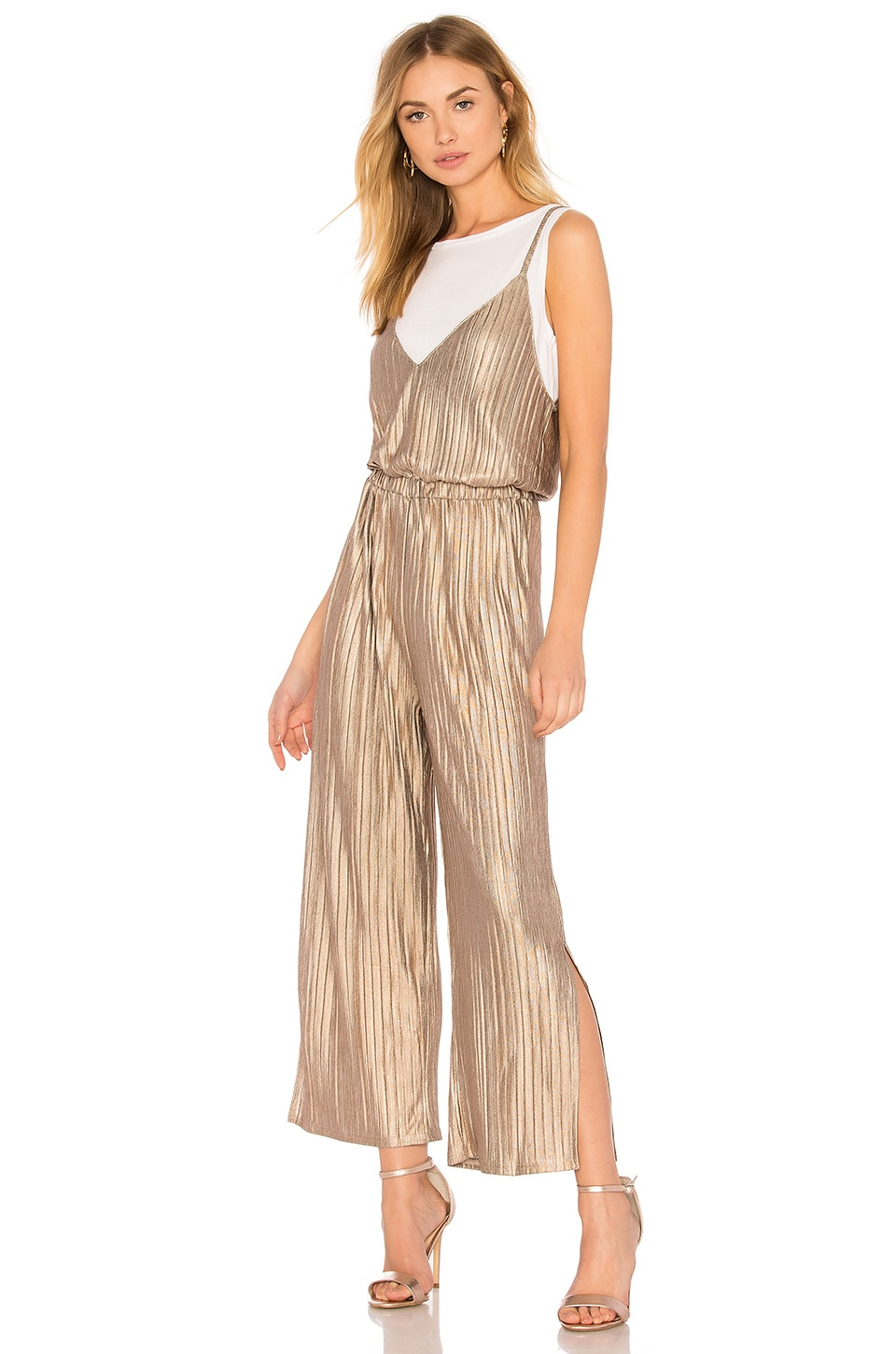 Metallic Crinkle Jumpsuit by MINKPINK