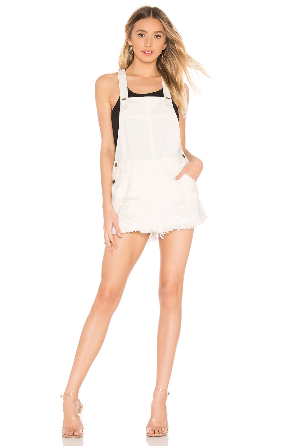 MINKPINK Wrecked Skort Pinnie in White