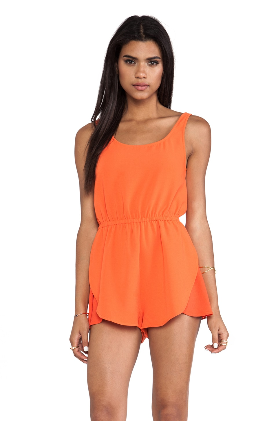 MINKPINK The Seeker Playsuit in Tomato Red