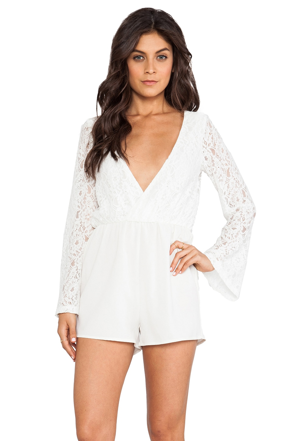 MINKPINK Sugar Sugar Playsuit in White