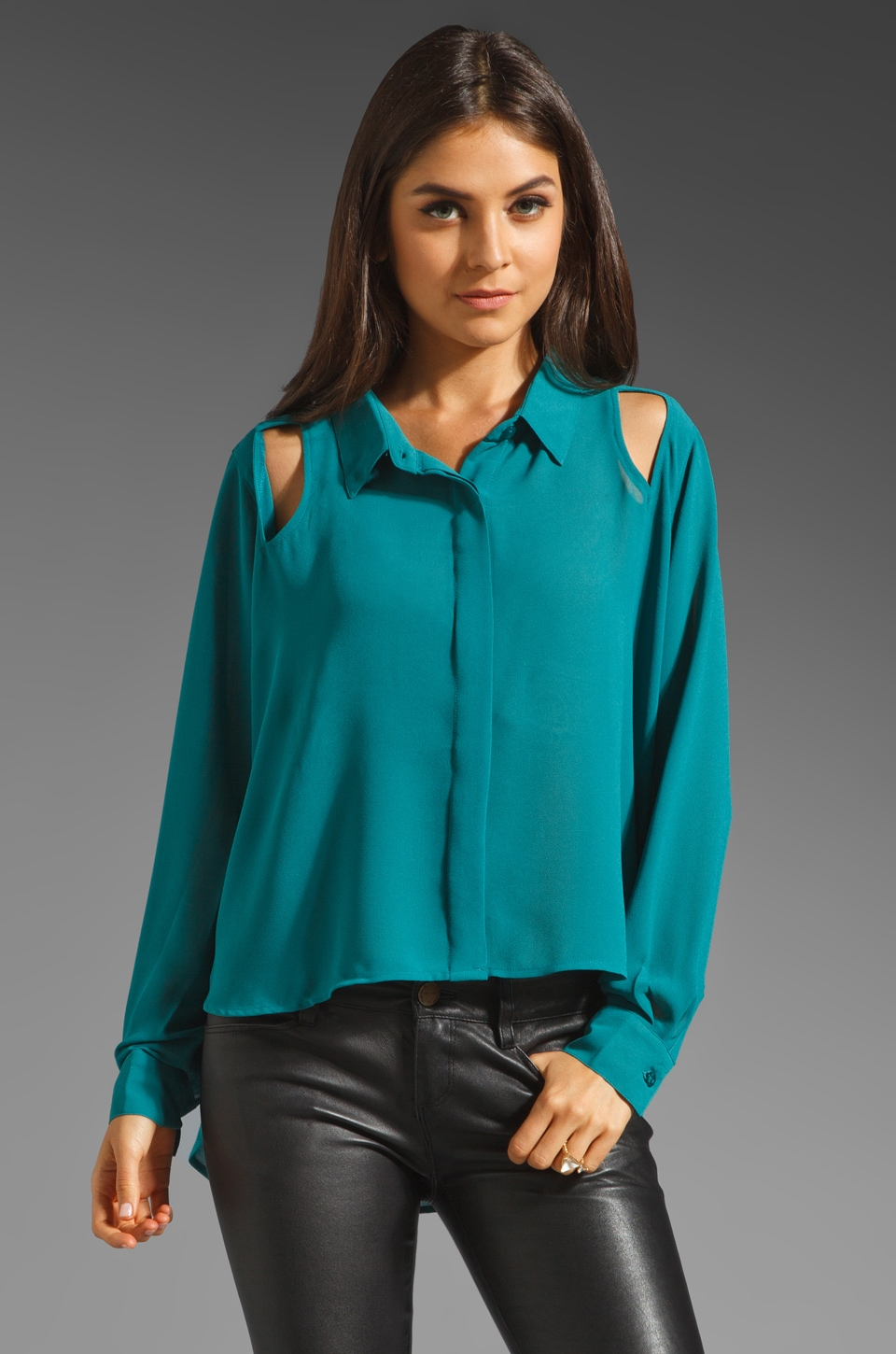 MINKPINK Blade Runner Shirt in Emerald