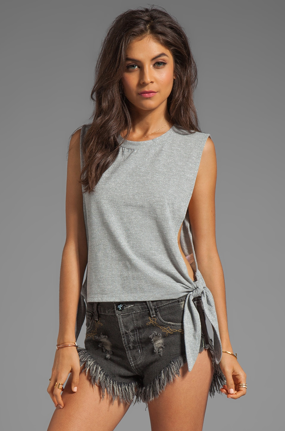 MINKPINK Cut Me Loose Tank in Grey