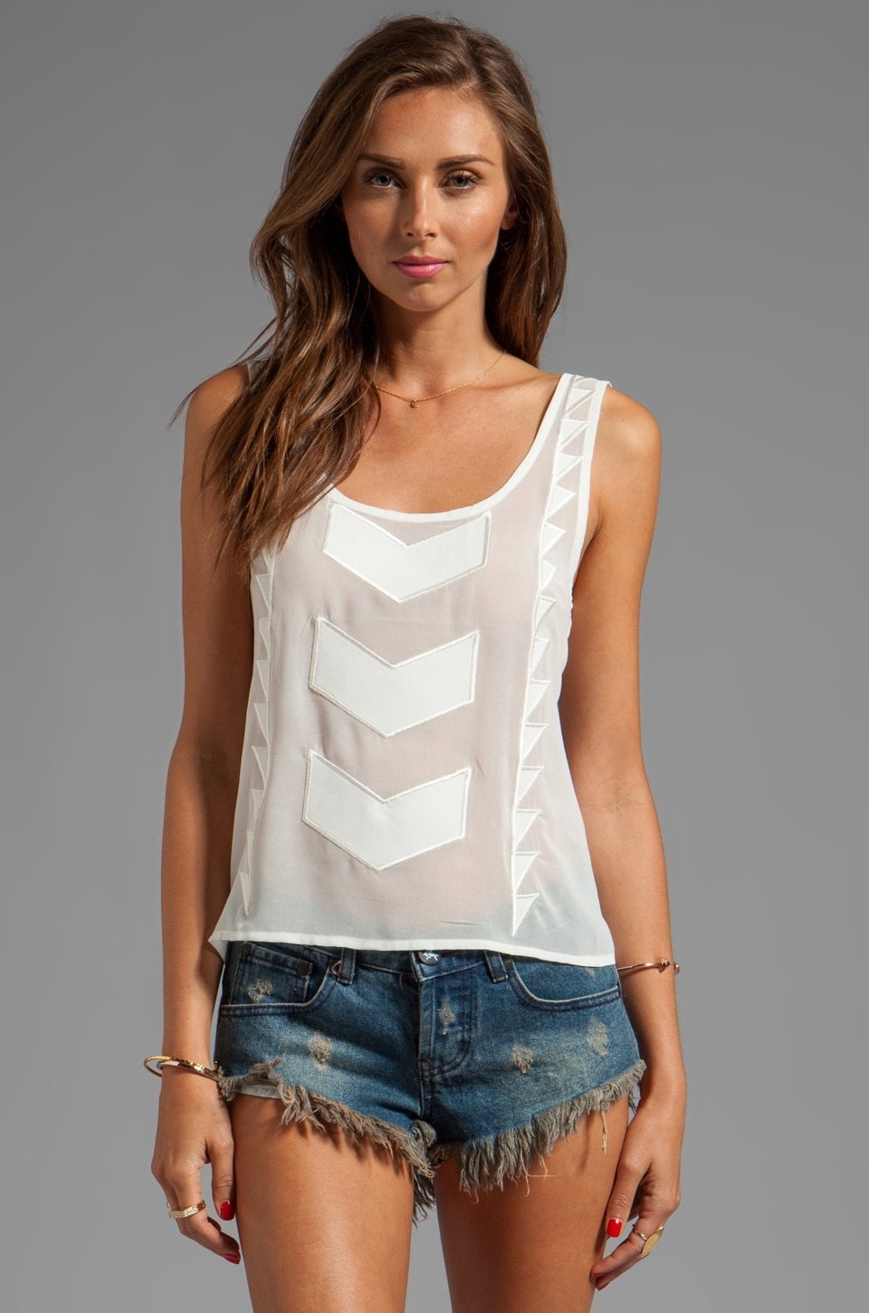 MINKPINK Zepher Tank in White