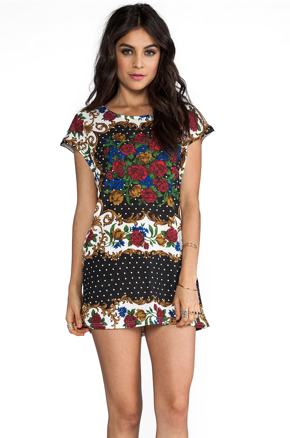 MINKPINK Excessive Short Sleeve Tunic in Multi