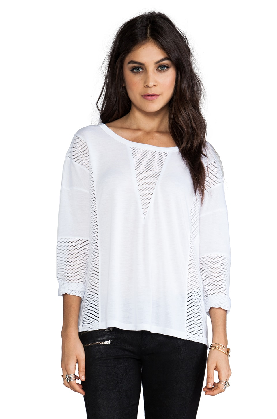 MINKPINK Sci Fi Long Sleeve Top in White