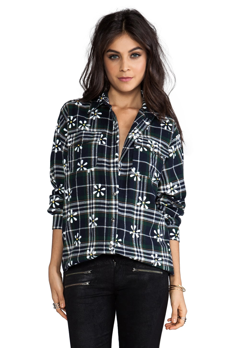 MINKPINK Potters Field Button Up Shirt in Multi