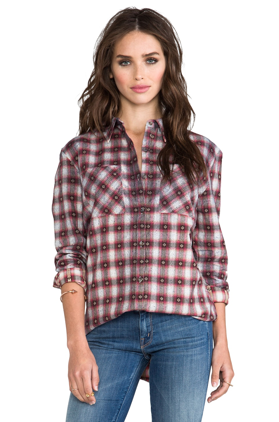 MINKPINK Easy Going Shirt in Multi