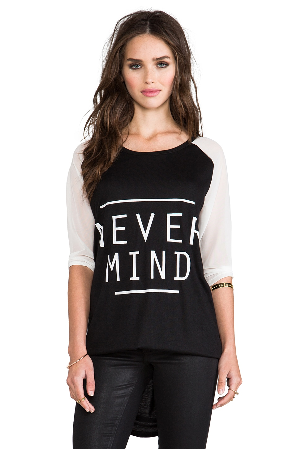 MINKPINK Never Mind Tee in Black/White