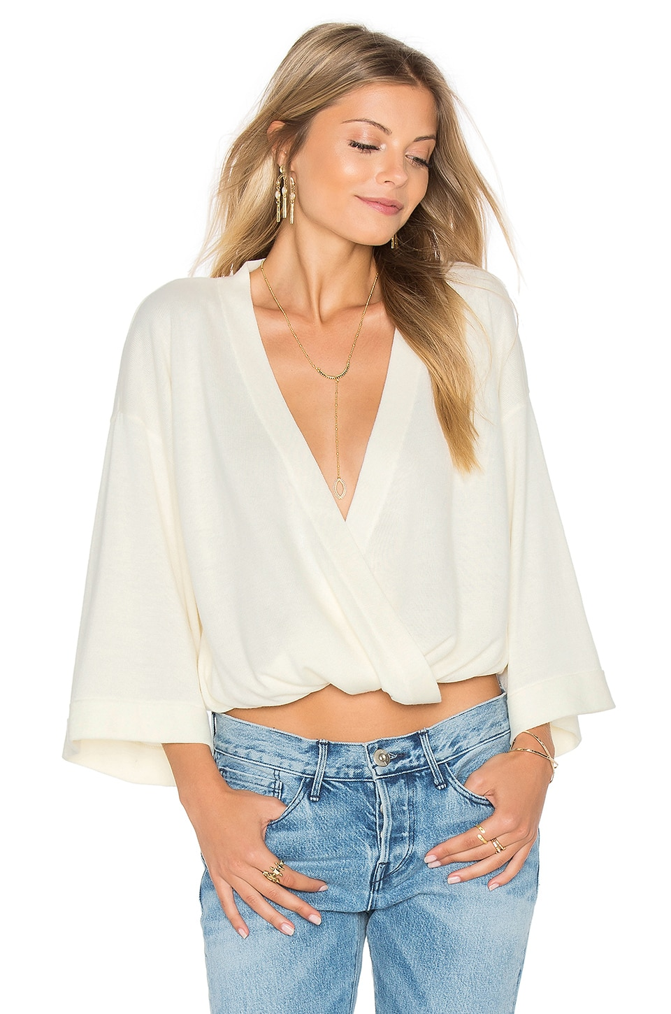 MINKPINK Her Story Top in Off White