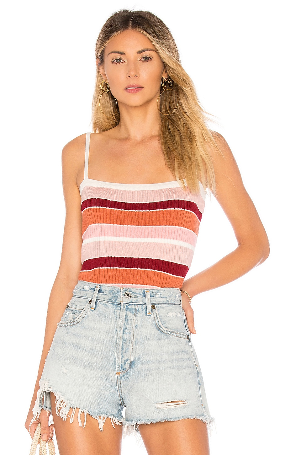 MINKPINK Shades of Rose Knit Cami in Multi