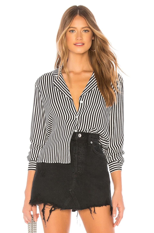 MINKPINK Stripe Shirt in Black & White