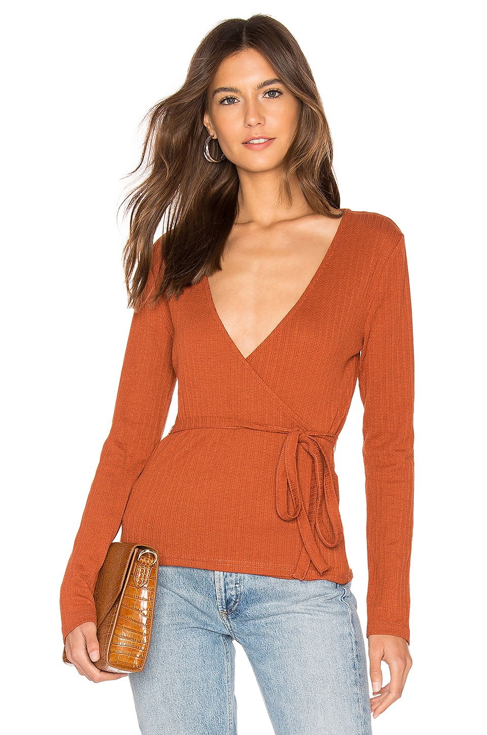 MINKPINK All Wrapped Up Top in Rust
