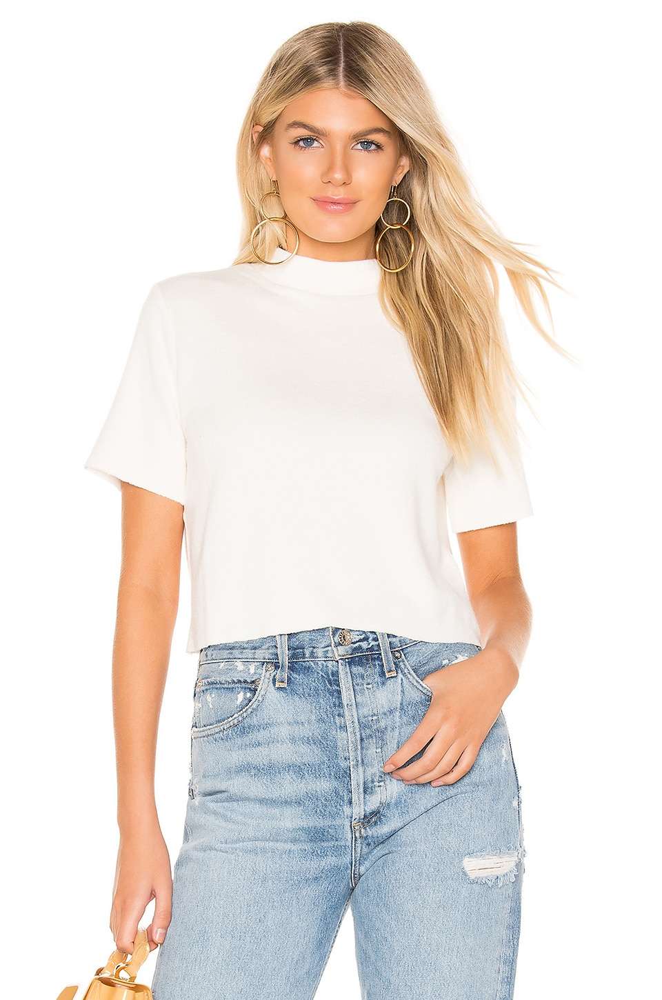 MINKPINK Rib Top in Off White