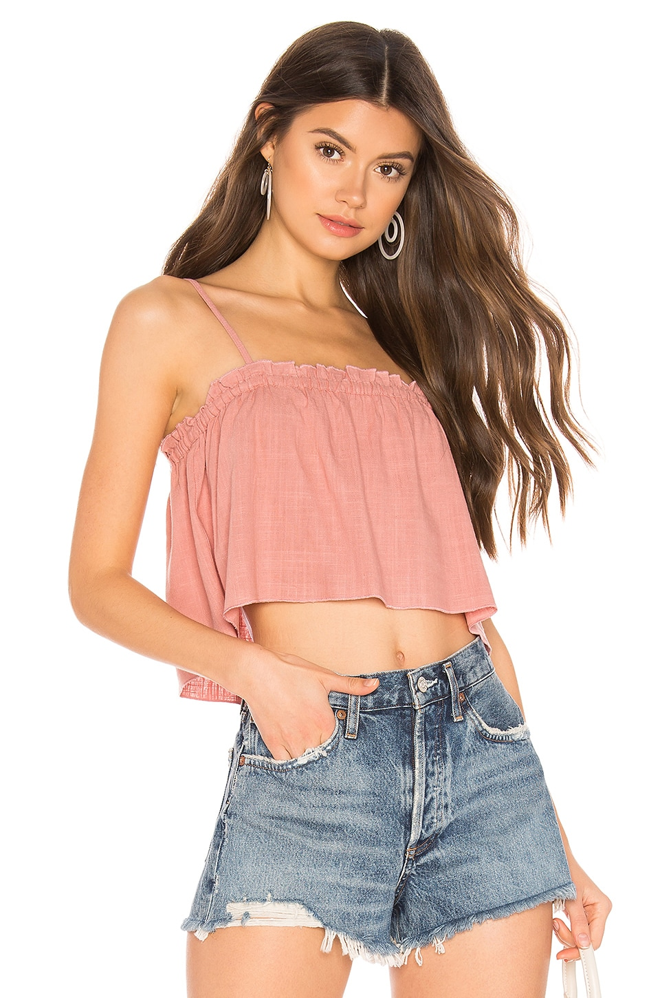 MINKPINK Daybreak Swing Cami in Rose