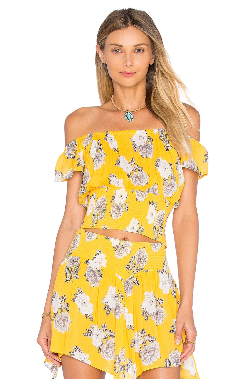 MINKPINK Spread Like Wildflowers Top in Multi Yellow