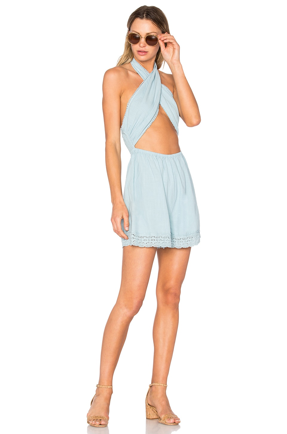 Mecury Blues Playsuit by Minkpink