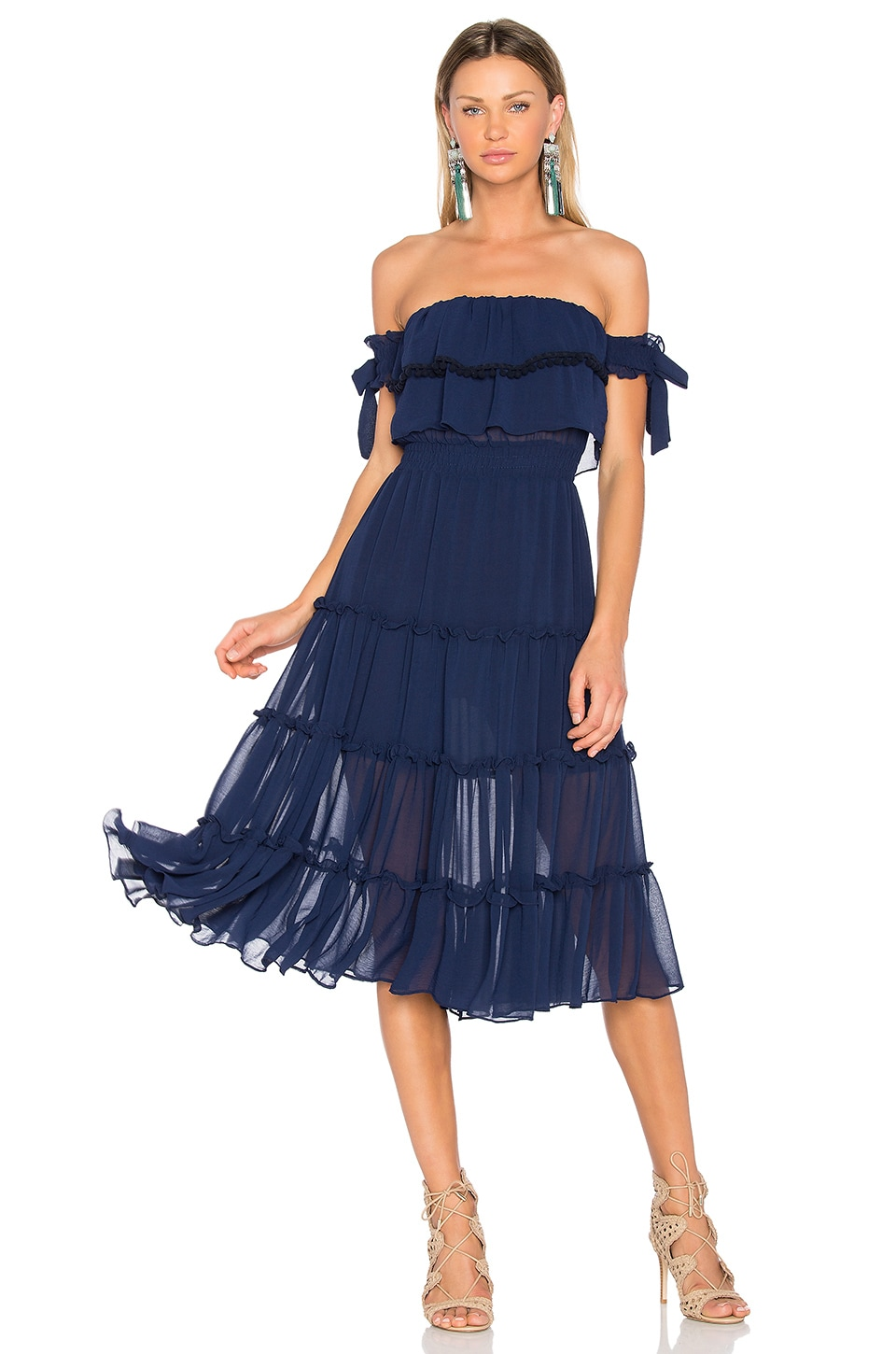 MISA Los Angeles Micaela Dress in Navy