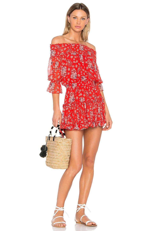 MISA Los Angeles Darla Dress in Red Floral