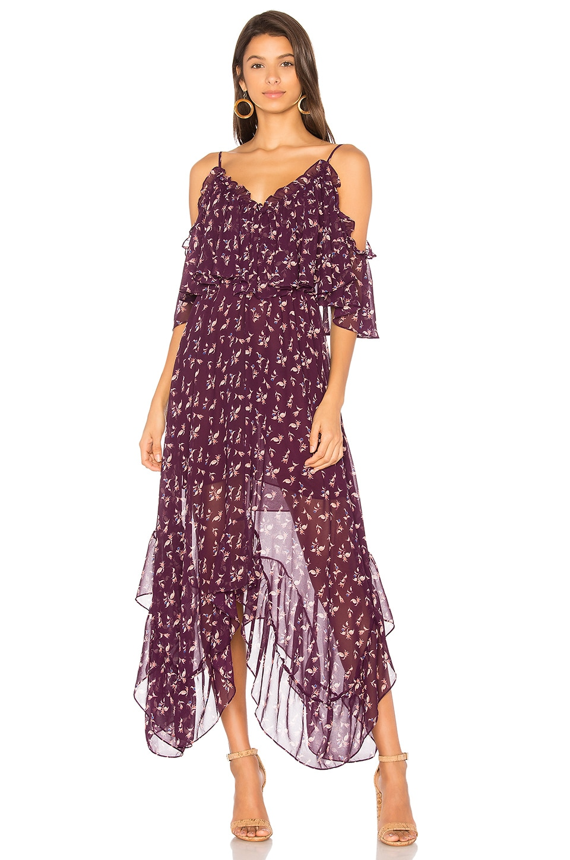 MISA Los Angeles Desi Dress in Purple Multi   REVOLVE