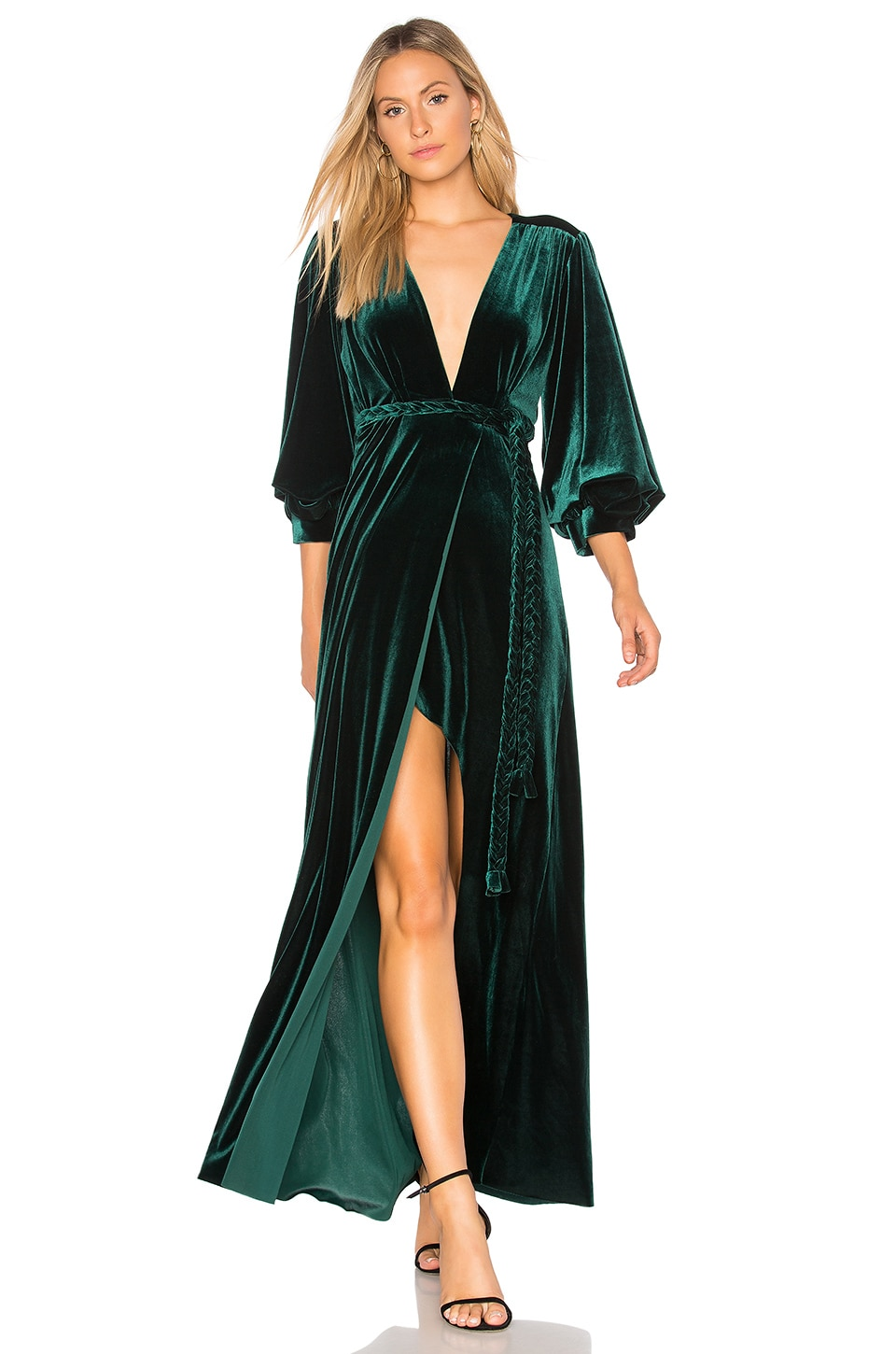 MISA Los Angeles Madeleine Dress in Green