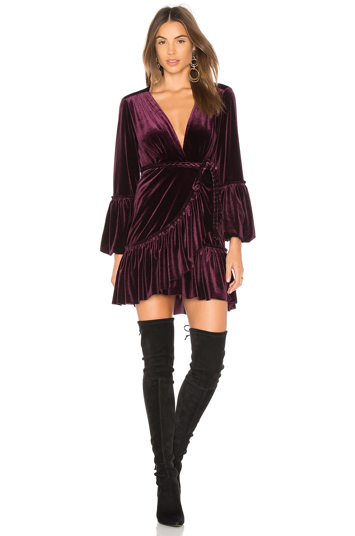 5fe94c6b696 MISA Los Angeles Corrine Dress in Plum | REVOLVE