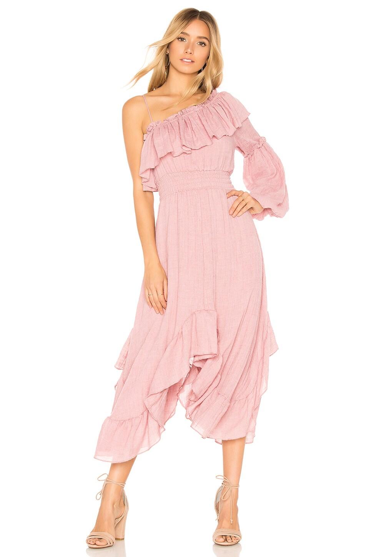 MISA Los Angeles Vola Dress in Dusty Pink