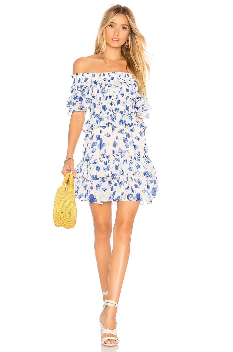 MISA Los Angeles Lilly Dress in Blue Floral