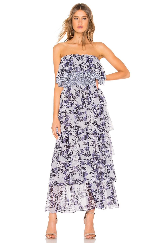 MISA Los Angeles Nadia Dress in Blue Multi Floral