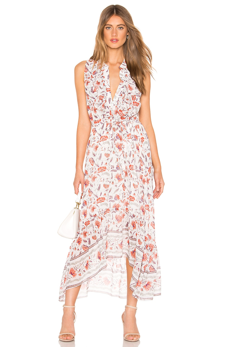 MISA Los Angeles Audra Dress in White & Red Floral