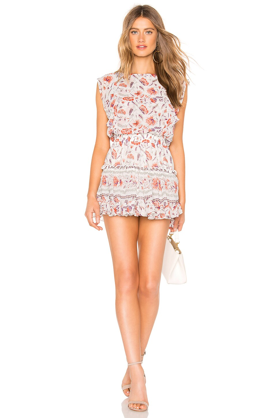 MISA Los Angeles Ginia Dress in White & Red Floral