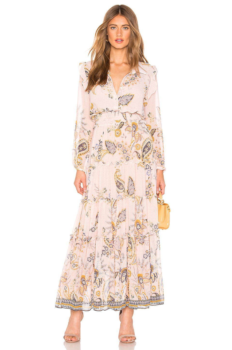 MISA Los Angeles Ahreana Dress in Pink Paisley
