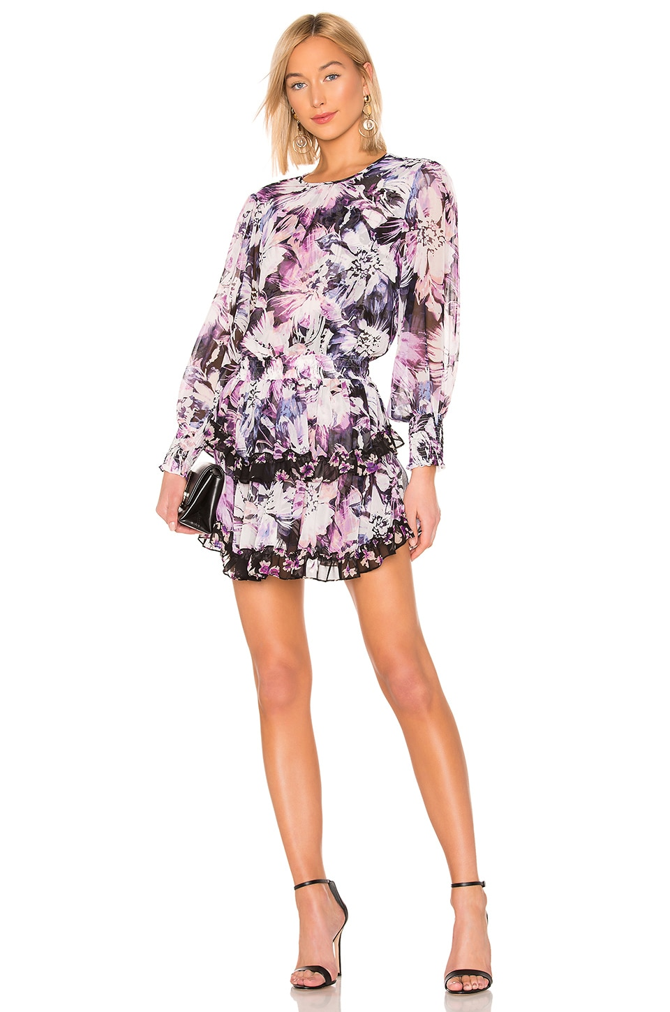 MISA Los Angeles Camila Dress in Purple Floral