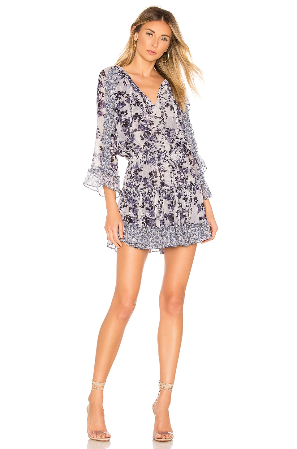 MISA Los Angeles Eliza Dress in Blue Multi Floral