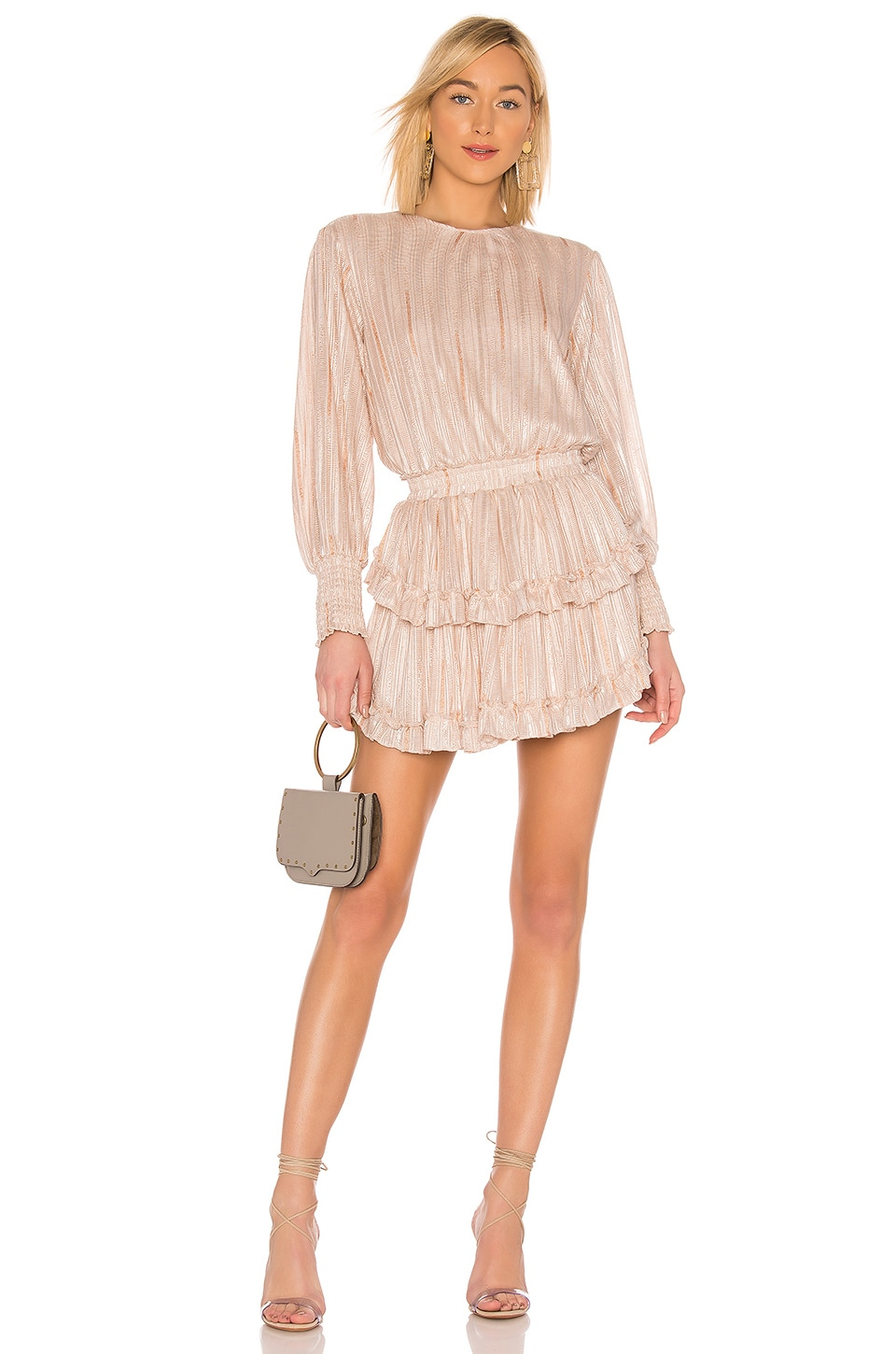MISA Los Angeles Katia Dress in Blush Stripe