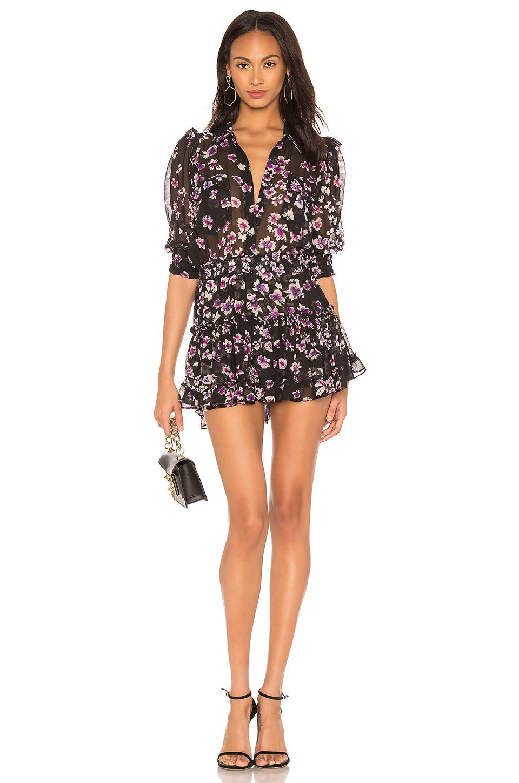 MISA Los Angeles X REVOLVE Lillian Dress in Black Floral