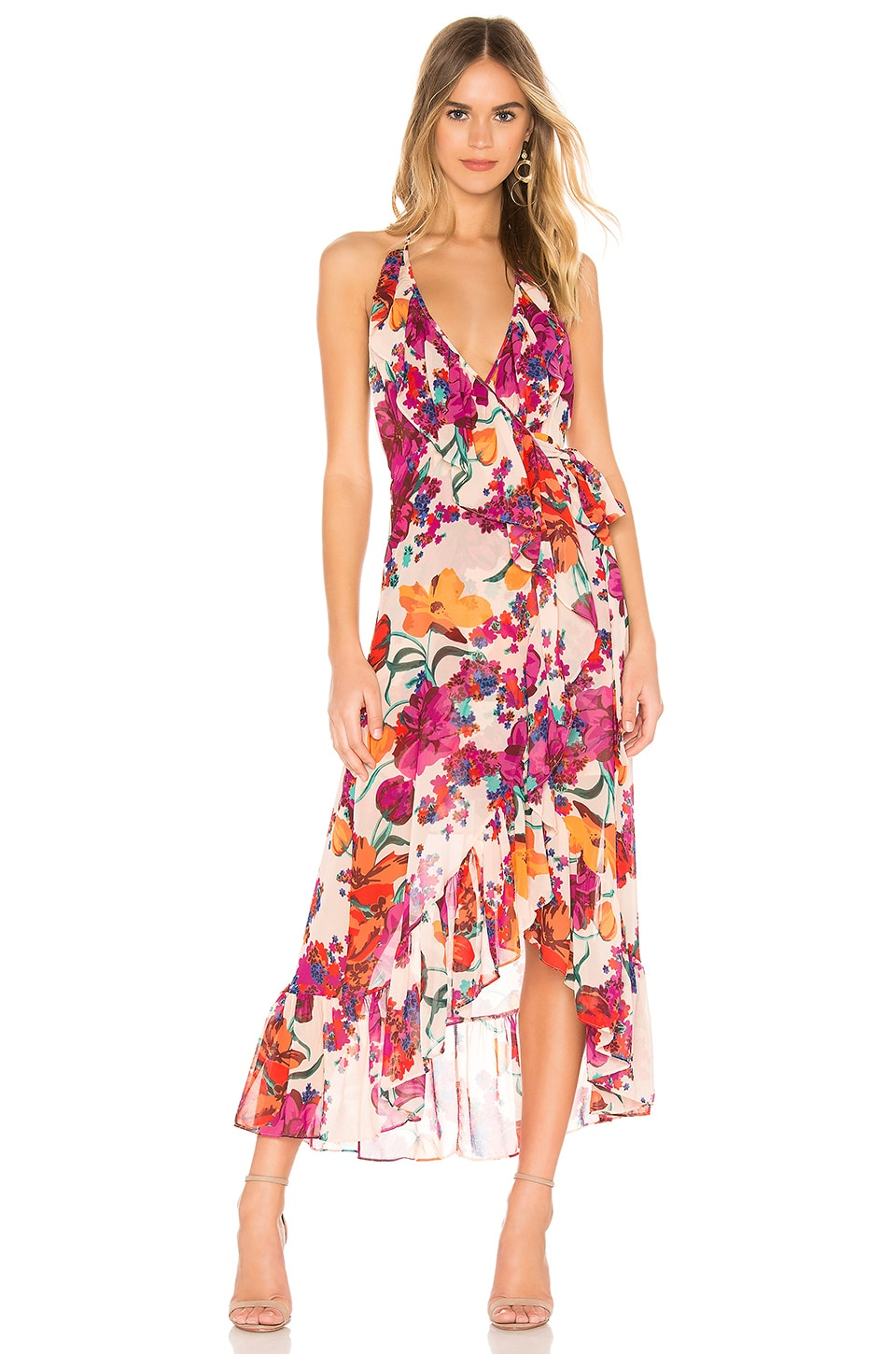 MISA Los Angeles Melany Dress in Burgundy Floral